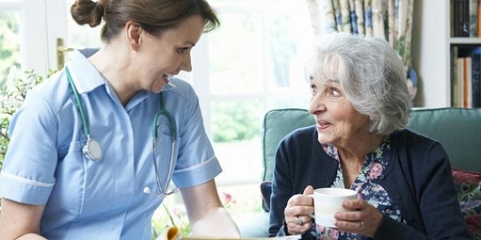 обслуживание пожилых людей